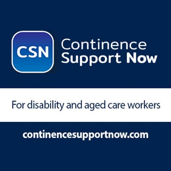 Continence Support Now, for disability and aged care workers, www.continencesupportnow.com