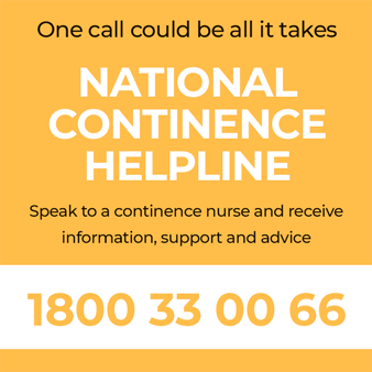 Call the National Continence Helpline 1800 33 00 66
