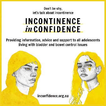 Incontinence in confidence provides information, advice and support to adolescents with bladder and bowel control problems.