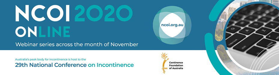 National Conference on Incontinence 2020 Logo